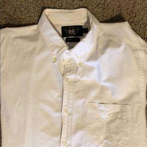 RRL Ralph Lauren White Oxford Size L